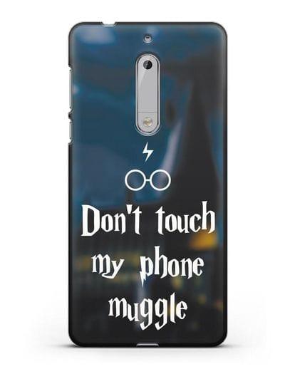 Чехол с надписью Don't touch my phone muggle силикон черный для Nokia 5