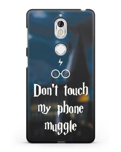 Чехол с надписью Don't touch my phone muggle силикон черный для Nokia 7