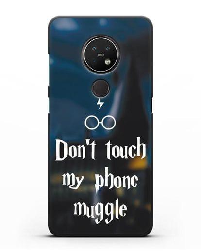 Чехол с надписью Don't touch my phone muggle силикон черный для Nokia 7.2