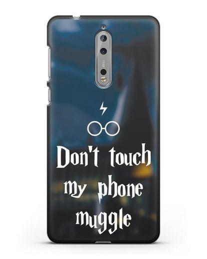 Чехол с надписью Don't touch my phone muggle силикон черный для Nokia 8