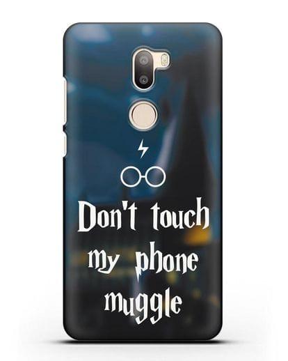 Чехол с надписью Don't touch my phone muggle силикон черный для Xiaomi Mi 5S Plus