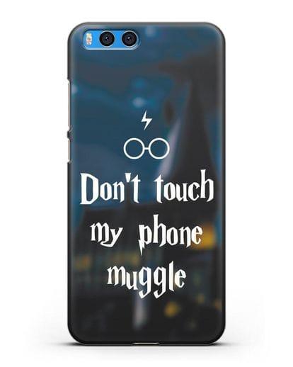 Чехол с надписью Don't touch my phone muggle силикон черный для Xiaomi Mi Note 3