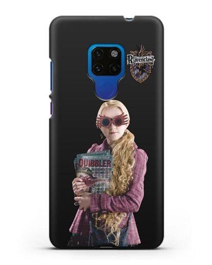 Чехол с изображением Полумны Лавгуд силикон черный для Huawei Mate 20