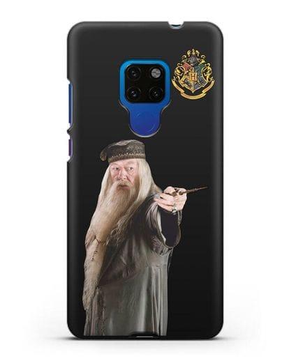 Чехол с изображением Альбуса Дамблдора силикон черный для Huawei Mate 20