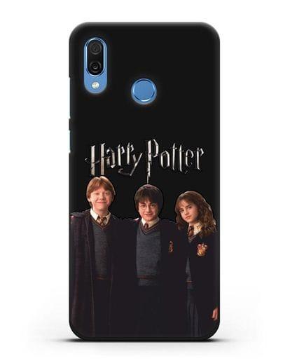 Чехол с изображением Гарри Поттера, Рона Узли и Гермионы Грейнджер силикон черный для Honor Play