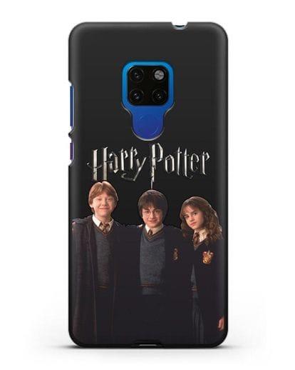 Чехол с изображением Гарри Поттера, Рона Узли и Гермионы Грейнджер силикон черный для Huawei Mate 20