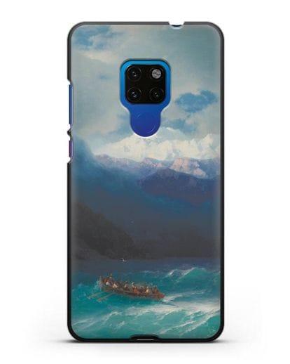 Чехол Бурное море (Айвазовский) силикон черный для Huawei Mate 20