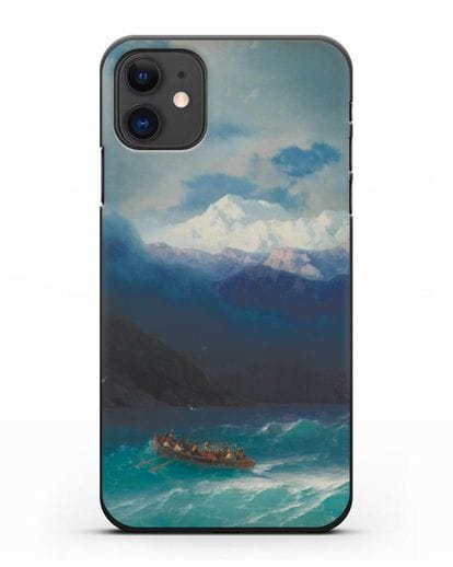 Чехол Бурное море (Айвазовский) силикон черный для iPhone 11