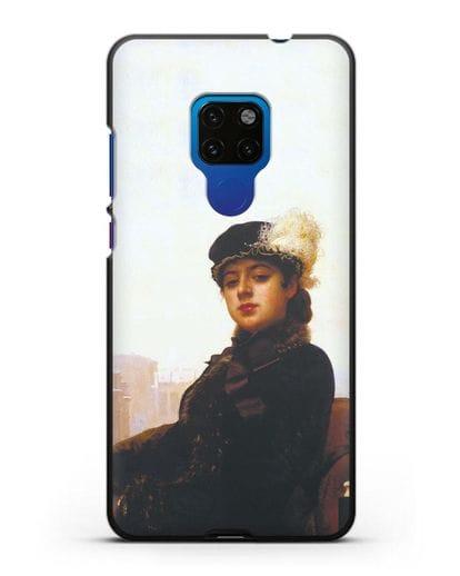 Чехол Портрет неизвестной (Крамской) силикон черный для Huawei Mate 20