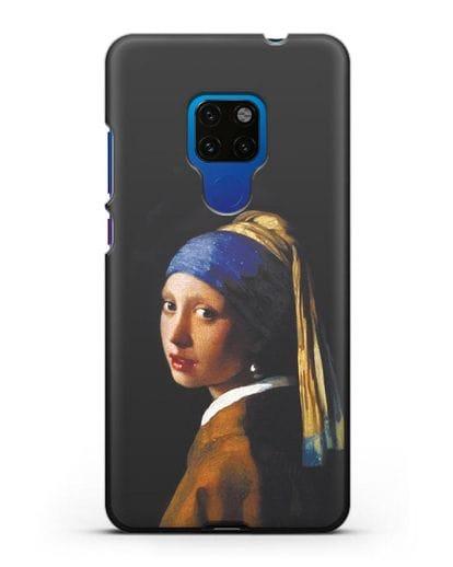 Чехол Девушка с жемчужной серёжкой (Вермеер) силикон черный для Huawei Mate 20