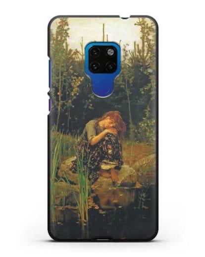 Чехол Алёнушка (Васнецов) силикон черный для Huawei Mate 20