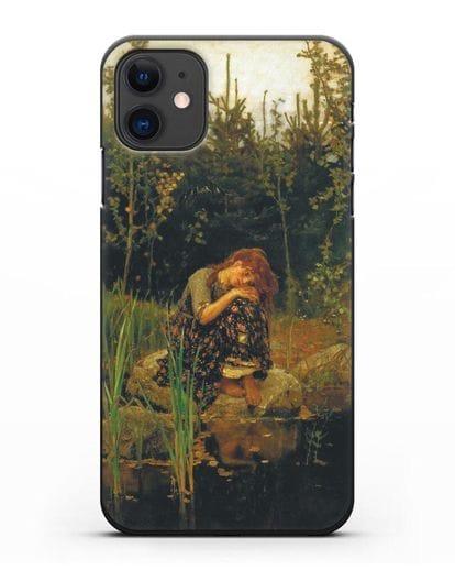 Чехол Алёнушка (Васнецов) силикон черный для iPhone 11
