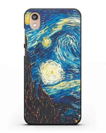 Чехол Звёздная ночь (Винсент ван Гог) силикон черный для Honor 8S