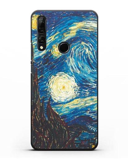 Чехол Звёздная ночь (Винсент ван Гог) силикон черный для Honor 9X
