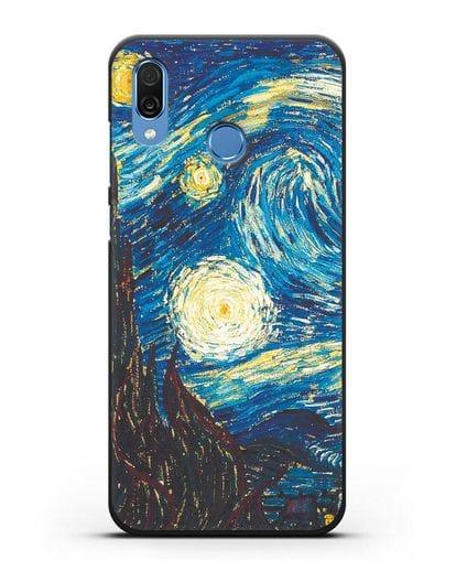 Чехол Звёздная ночь (Винсент ван Гог) силикон черный для Honor Play