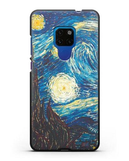 Чехол Звёздная ночь (Винсент ван Гог) силикон черный для Huawei Mate 20