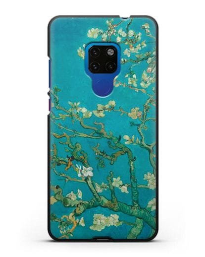 Чехол Цветущие ветки миндаля (Винсент ван Гог) силикон черный для Huawei Mate 20