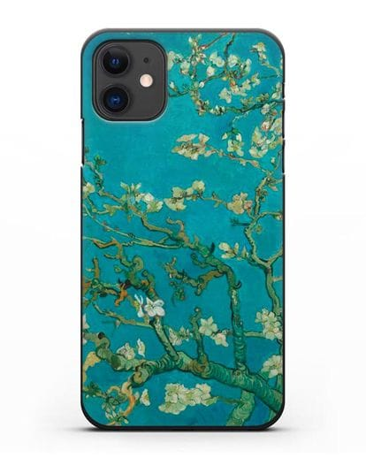 Чехол Цветущие ветки миндаля (Винсент ван Гог) силикон черный для iPhone 11