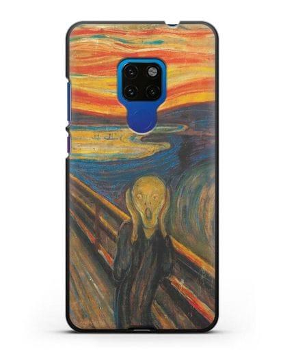 Чехол Крик (Мунк) силикон черный для Huawei Mate 20
