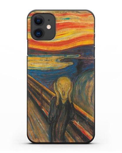 Чехол Крик (Мунк) силикон черный для iPhone 11