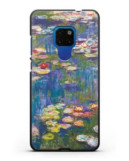 Чехол Кувшинки (Клод Моне) силикон черный для Huawei Mate 20