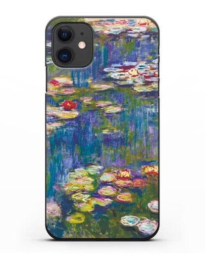 Чехол Кувшинки (Клод Моне) силикон черный для iPhone 11