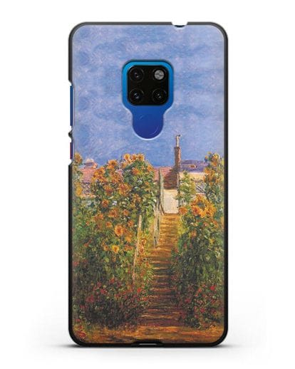 Чехол Сад художника в Ветёе (Клод Моне) силикон черный для Huawei Mate 20