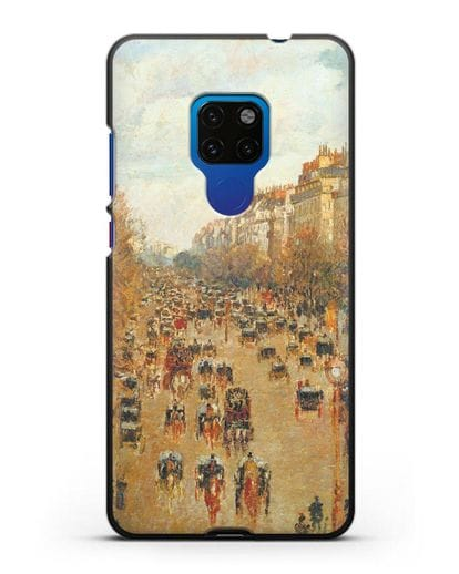 Чехол Бульвар Монмартр в Париже (Камиль Писсарро) силикон черный для Huawei Mate 20