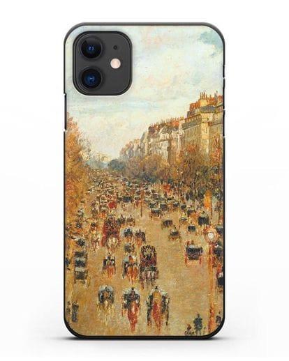 Чехол Бульвар Монмартр в Париже (Камиль Писсарро) силикон черный для iPhone 11