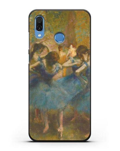 Чехол Танцовщицы в синем (Эдгар Дега) силикон черный для Honor Play