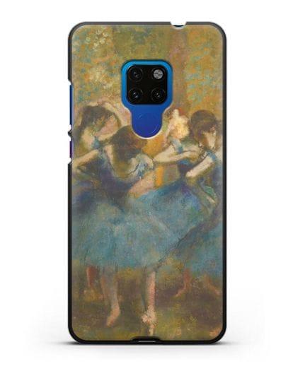Чехол Танцовщицы в синем (Эдгар Дега) силикон черный для Huawei Mate 20