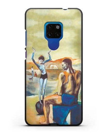 Чехол Девочка на шаре (Пабло Пикассо) силикон черный для Huawei Mate 20