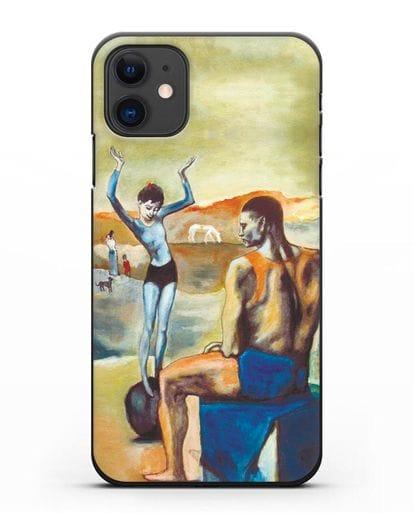 Чехол Девочка на шаре (Пабло Пикассо) силикон черный для iPhone 11