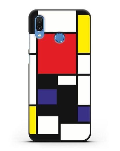 Чехол Красный, желтый, синий и черный (Пит Мондриан) силикон черный для Honor Play