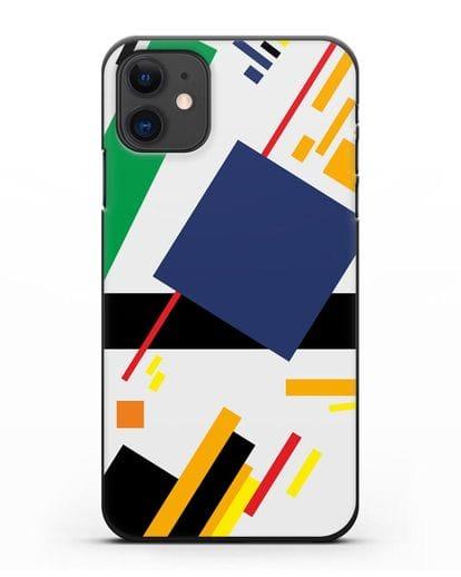 Чехол Супрематизм (Казимир Малевич) силикон черный для iPhone 11