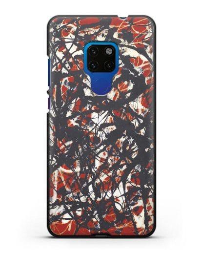 Чехол Абстракция (Джексон Поллок) силикон черный для Huawei Mate 20