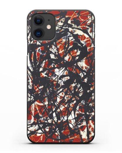 Чехол Абстракция (Джексон Поллок) силикон черный для iPhone 11