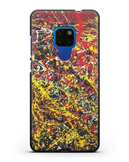 Чехол с изображением картины (Джексон Поллок) силикон черный для Huawei Mate 20