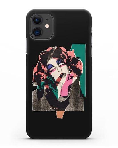 Чехол в стиле поп-арт Дама (Энди Уорхол) силикон черный для iPhone 11