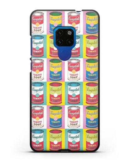 Чехол в стиле поп-арт Банки супа Кэмпбелл (Энди Уорхол) силикон черный для Huawei Mate 20
