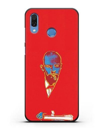 Чехол в стиле поп-арт Красный Ленин (Энди Уорхол) силикон черный для Honor Play