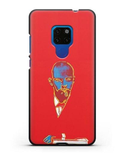 Чехол в стиле поп-арт Красный Ленин (Энди Уорхол) силикон черный для Huawei Mate 20