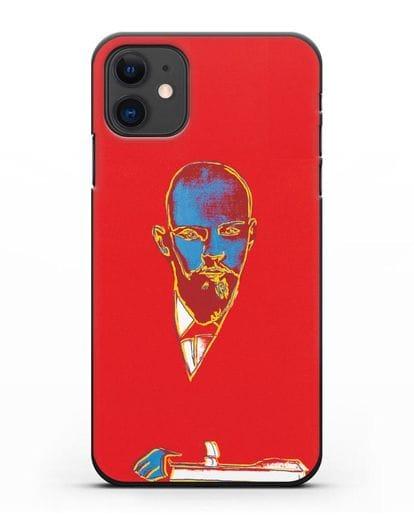 Чехол в стиле поп-арт Красный Ленин (Энди Уорхол) силикон черный для iPhone 11