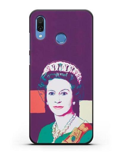 Чехол в стиле поп-арт Королева Елизавета (Энди Уорхол) силикон черный для Honor Play