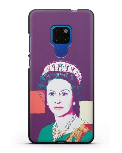 Чехол в стиле поп-арт Королева Елизавета (Энди Уорхол) силикон черный для Huawei Mate 20