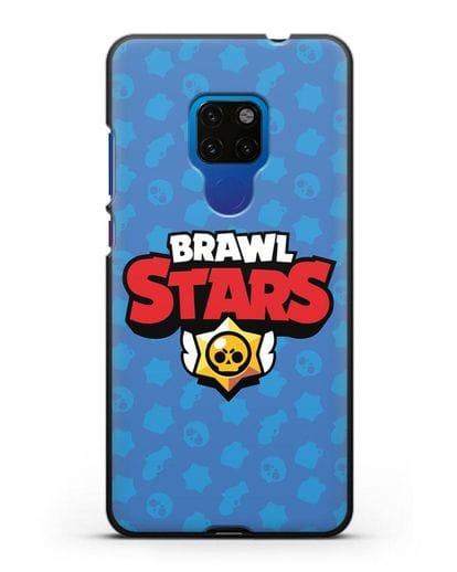 Чехол с логотипом Brawl Stars силикон черный для Huawei Mate 20