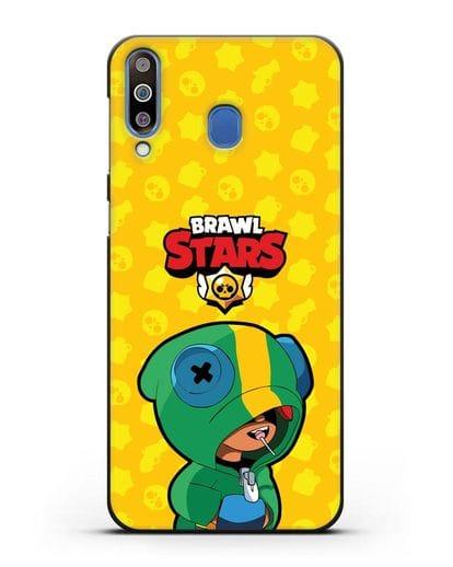 Чехол Леон Браво Старс силикон черный для Samsung Galaxy M30 [SM-M305F]