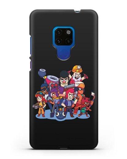 Чехол с изображением геров Brawl Stars силикон черный для Huawei Mate 20