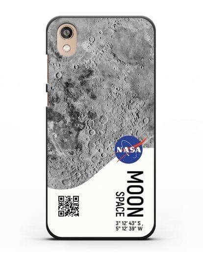Чехол Луна с координатами силикон черный для Honor 8S