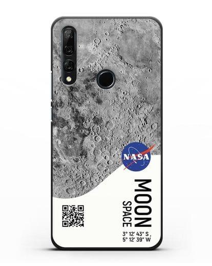Чехол Луна с координатами силикон черный для Honor 9X